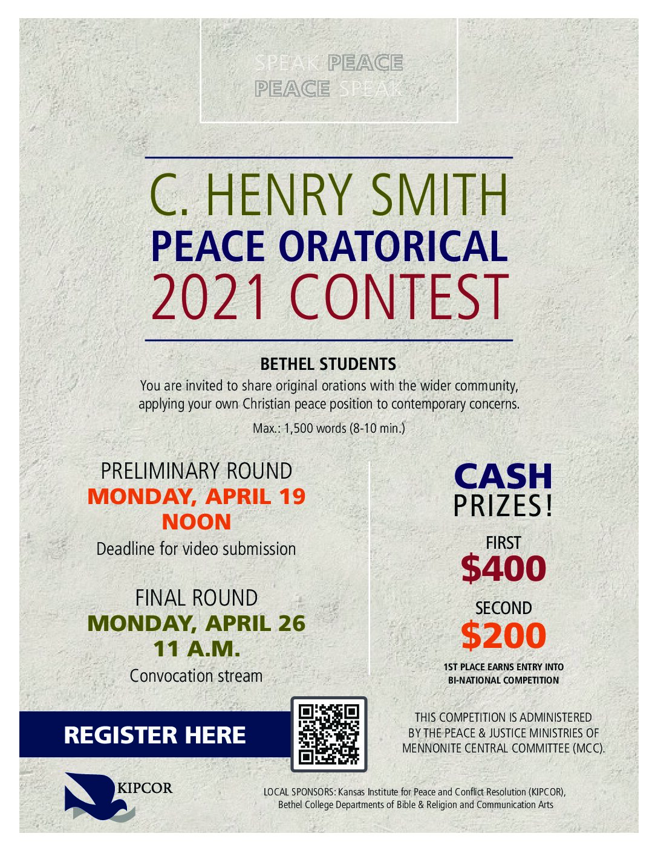 C Henry Smith Oratorical Contest 2021